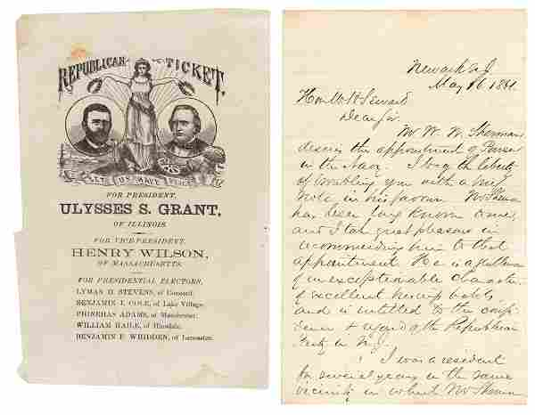 Civil War Letter & Presidential Ballot