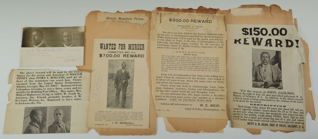 508: Group of African American Wanted Notices