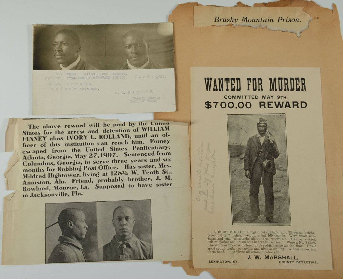 508: Group of African American Wanted Notices - 2