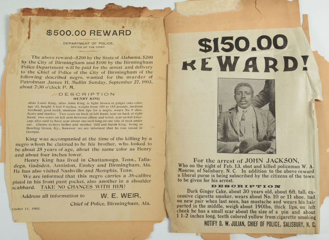 508: Group of African American Wanted Notices - 3