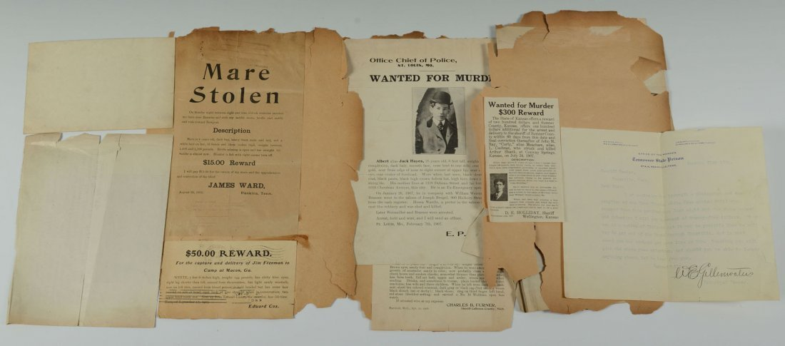 508: Group of African American Wanted Notices - 4