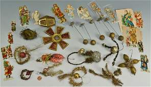 599: Early German glass Christmas ornaments, other