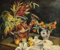 """600: """"Vigon"""" Floral Still Life, 20th century"""