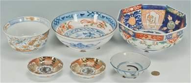 712: Group of 6 pcs Imari & Chinese porcelain