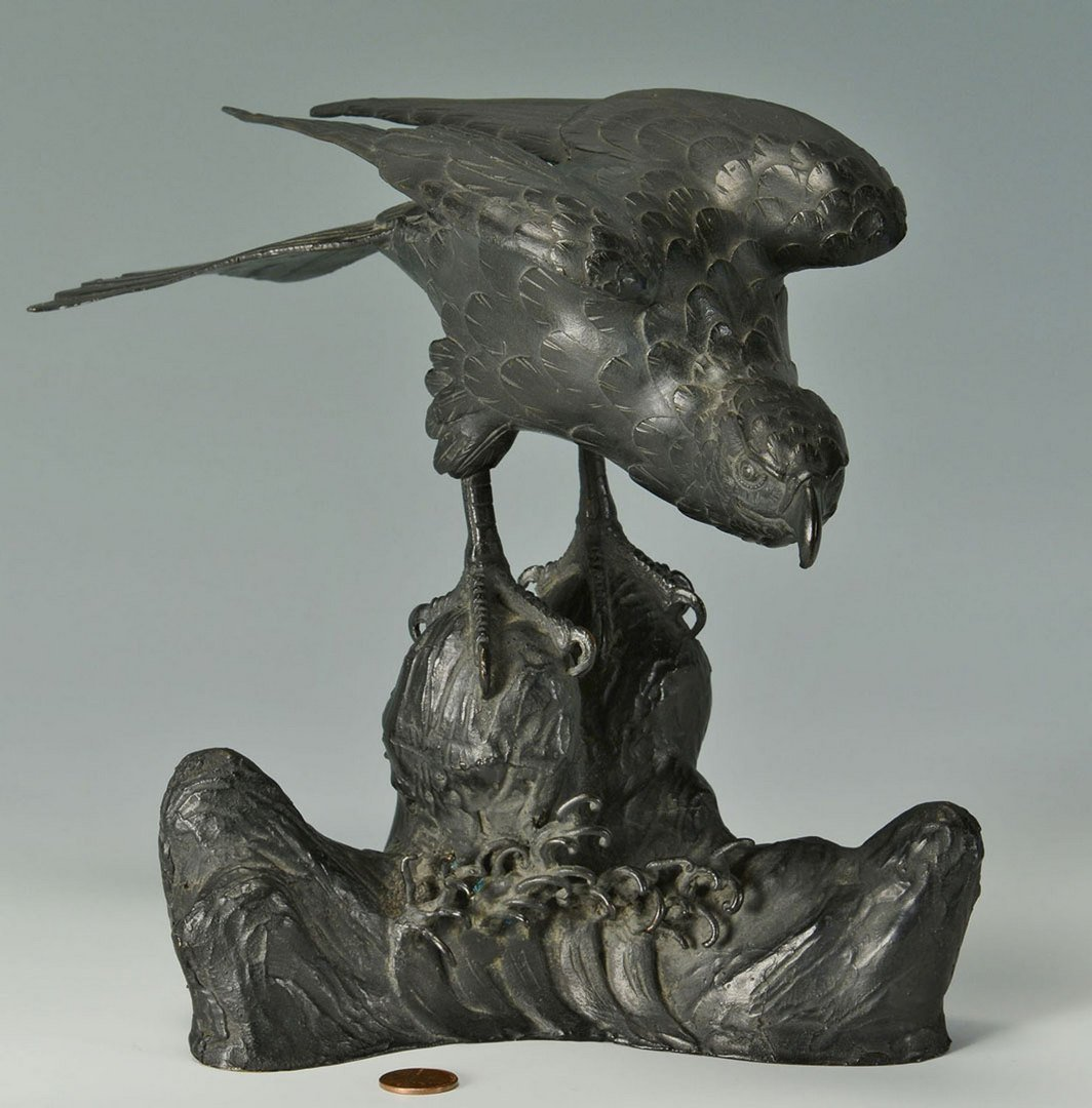 Bronze Bald Eagle sculpture, Chinese