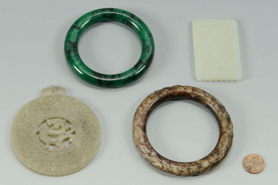 4 Chinese Jade Jewelry items