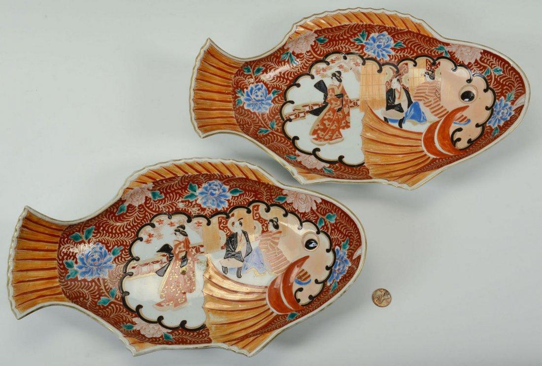 Pair of Japanese Imari Fish Platters