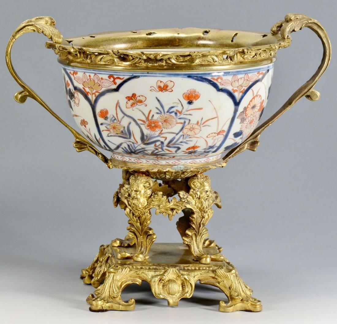 Bronze Mounted Imari Porcelain Bowl