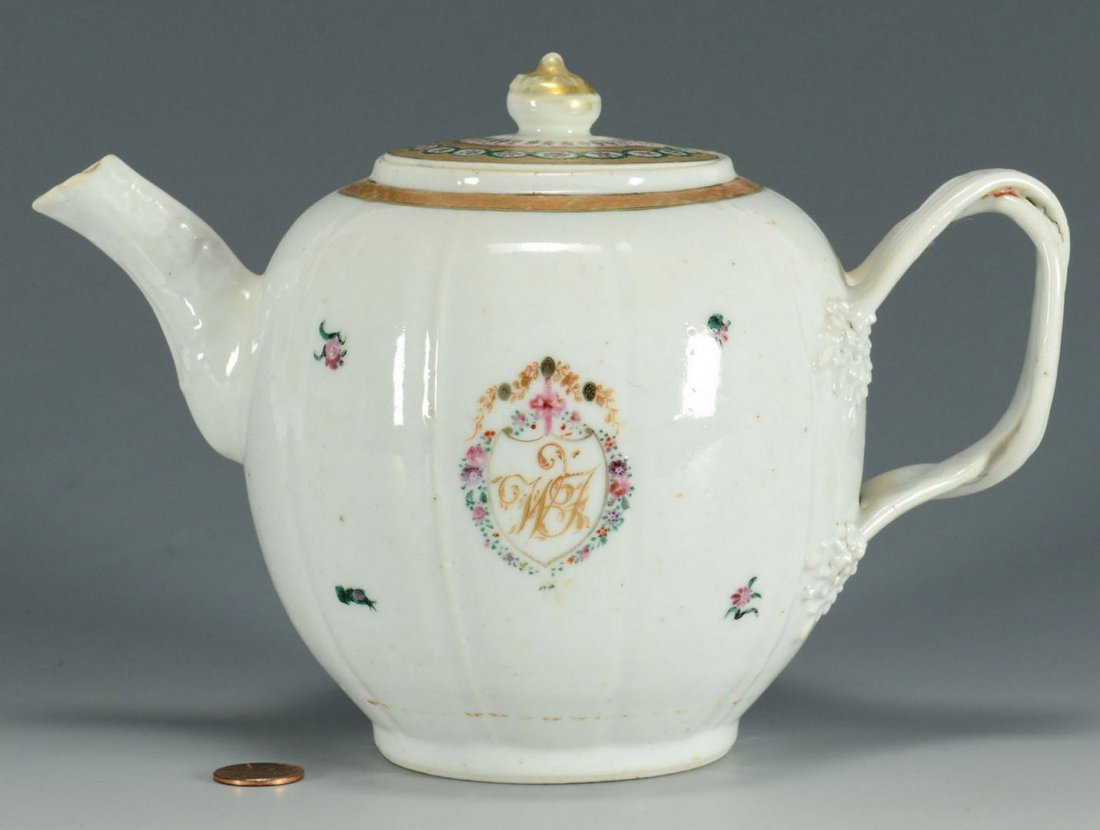 Chinese Export Armorial Teapot
