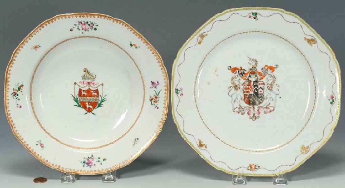 Two Chinese Export Armorial Dishes
