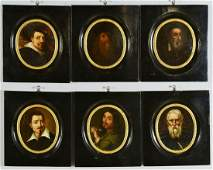 6 Florentine Portraits of Old Masters Grand Tour