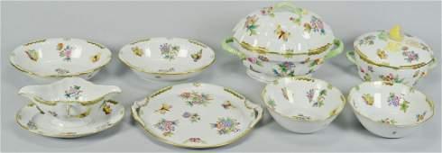 8 Herend Queen Victoria Porcelain Service Items