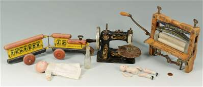 Collection of Toy and Salesman Sample items, 6 ite