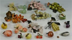 Collection of Chinese Hardstone Fruit, 18 pcs.