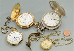 Group of 4 pocket watches