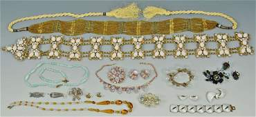 Large group of costume jewelry incl bubble styles