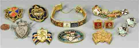 10 pcs enameled Jewelry inc War Relief