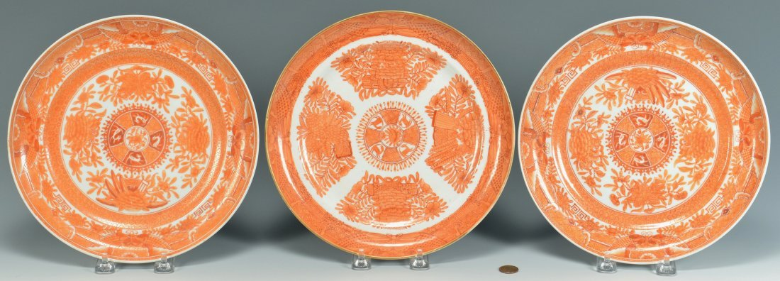 3 Export Plates: Orange Fitzhugh