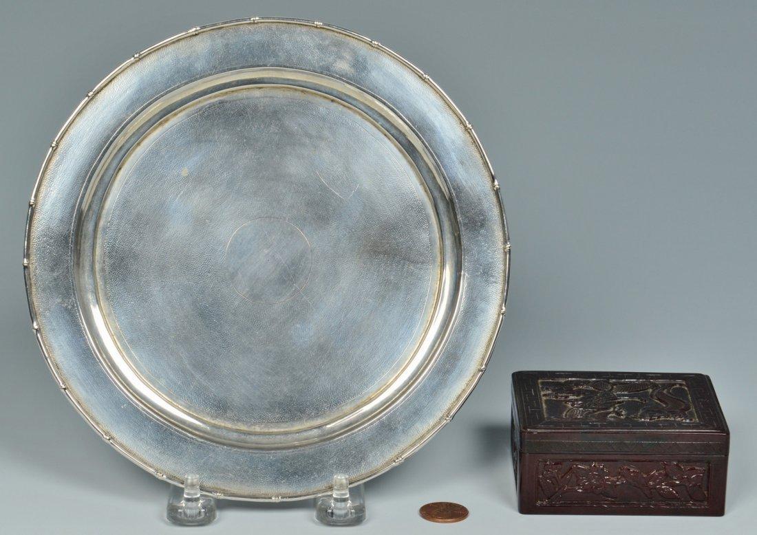 Chinese Silver Zeewo plate, Cherry Amber Box - 2