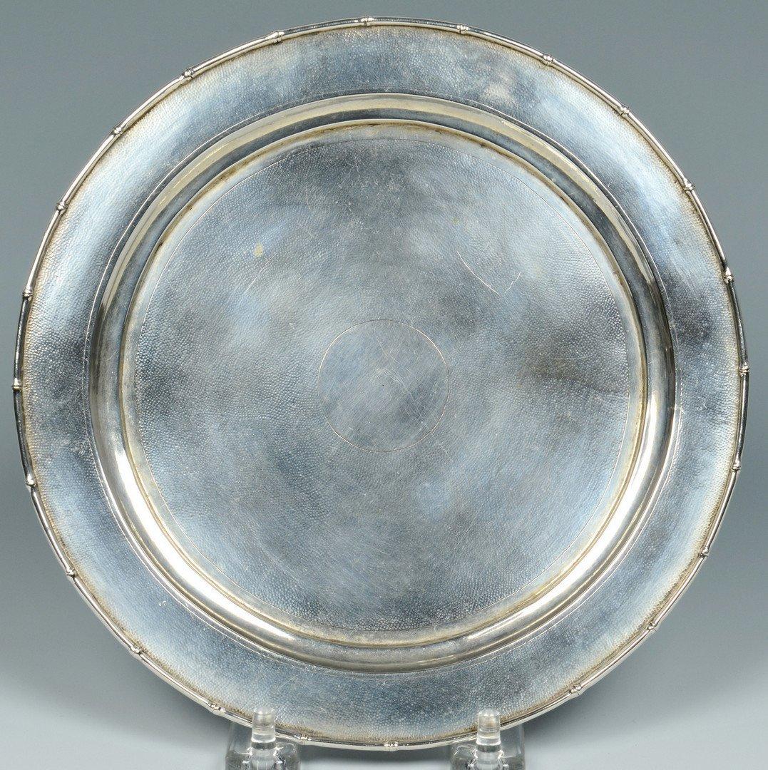 Chinese Silver Zeewo plate, Cherry Amber Box - 3