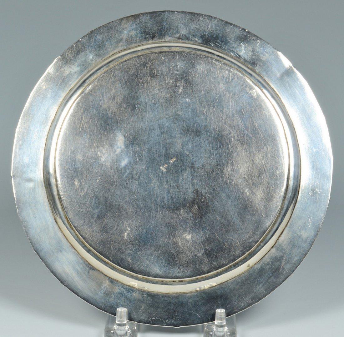 Chinese Silver Zeewo plate, Cherry Amber Box - 4