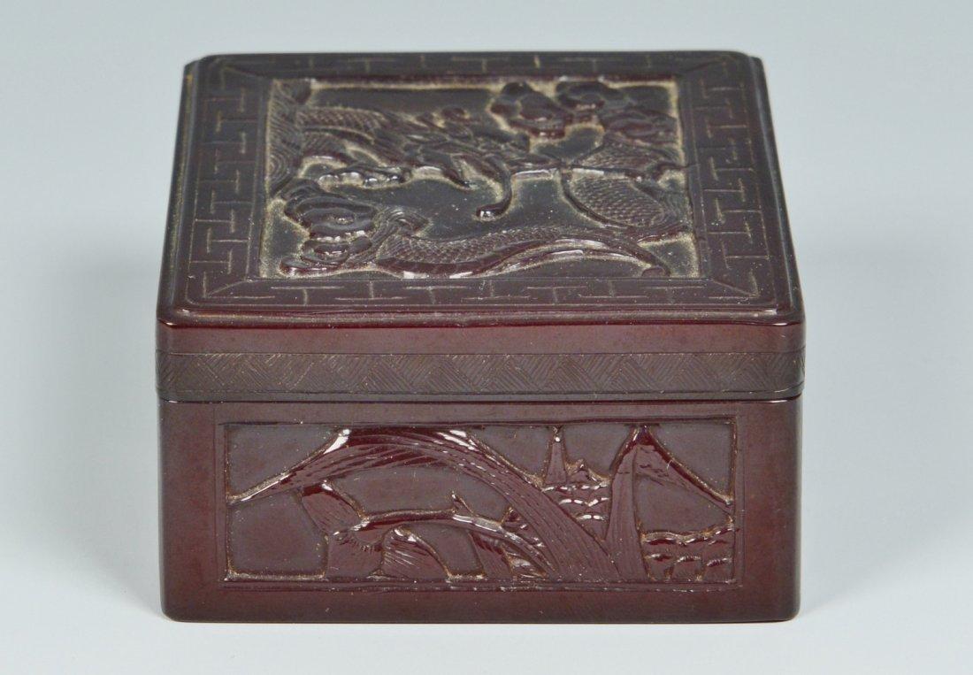 Chinese Silver Zeewo plate, Cherry Amber Box - 8
