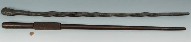 2 Folk Art Canes, 1 Civil War Kentucky GAR