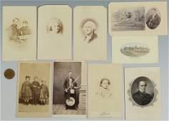 7 Civil War Era CDVs inc slaves, presidents