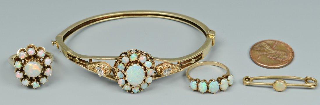 Group of 14k Opal Jewelry, 4 pcs