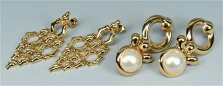 Two Pair 14k Dangle Earrings