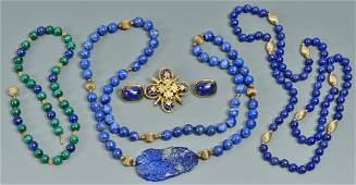 Group of Lapis Jewelry 5 pcs