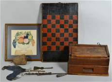Six 19 Century Folk Art items