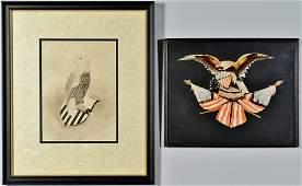 Folk Art Works of Eagles  Shield