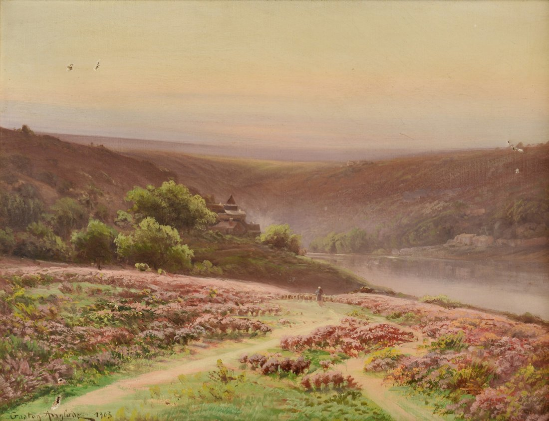 Gaston Anglade o/c Landscape