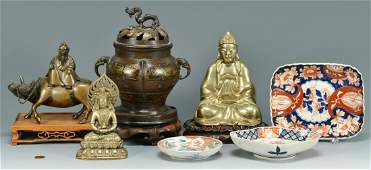 7 Asian decorative items