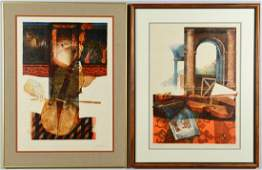 Two Alvar Embossed Lithographs, Artist Proof