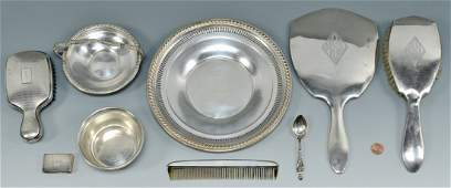 Grouping Of Sterling Items, 8 pcs.
