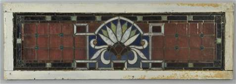 Art Nouveau Stained Glass Transom