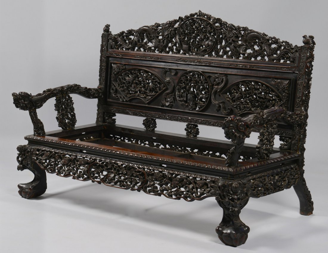 Chinese Hardwood Export Settee