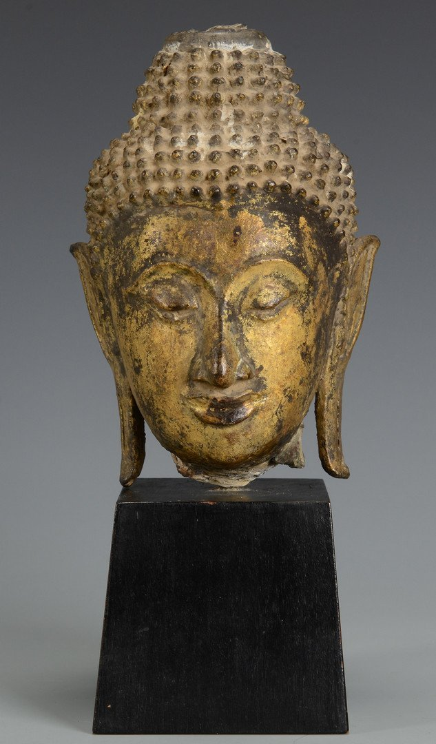 Gilt Bronze Buddha Head