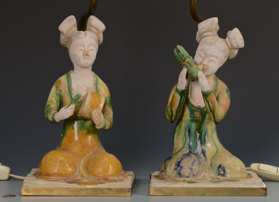 Pr. Chinese Musical Figure Lamps