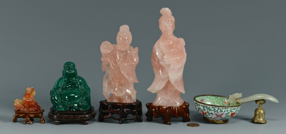 5 Chinese Jade & Hardstone Items