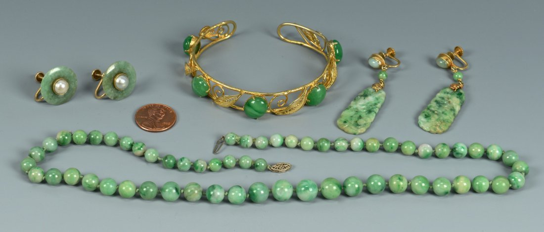 Grouping of Jade Jewelry, 4 items