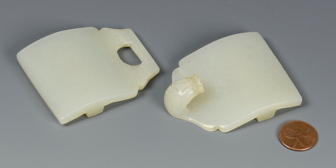 Chinese White Jade Dragon Buckle
