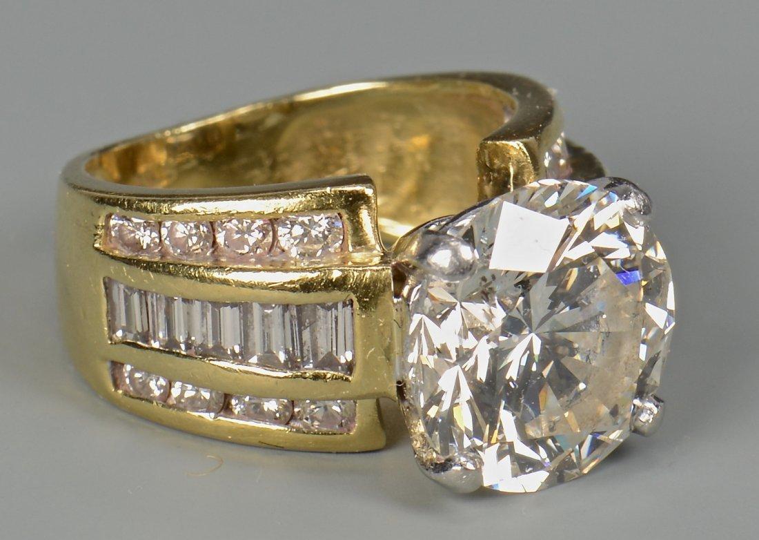 5.06 ct Round Diamond Ring, GIA