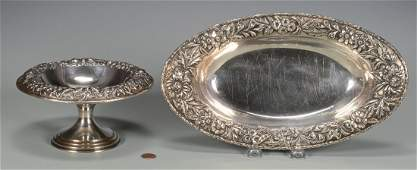 Kirk Repousse Bread Tray, Compote