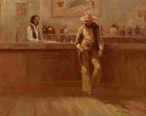 Carl Hantman o/c, Saloon Scene
