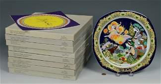 9 Bjorn Wiinblad Christmas Plates