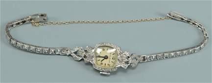 Bulova Diamond/Platinum Watch