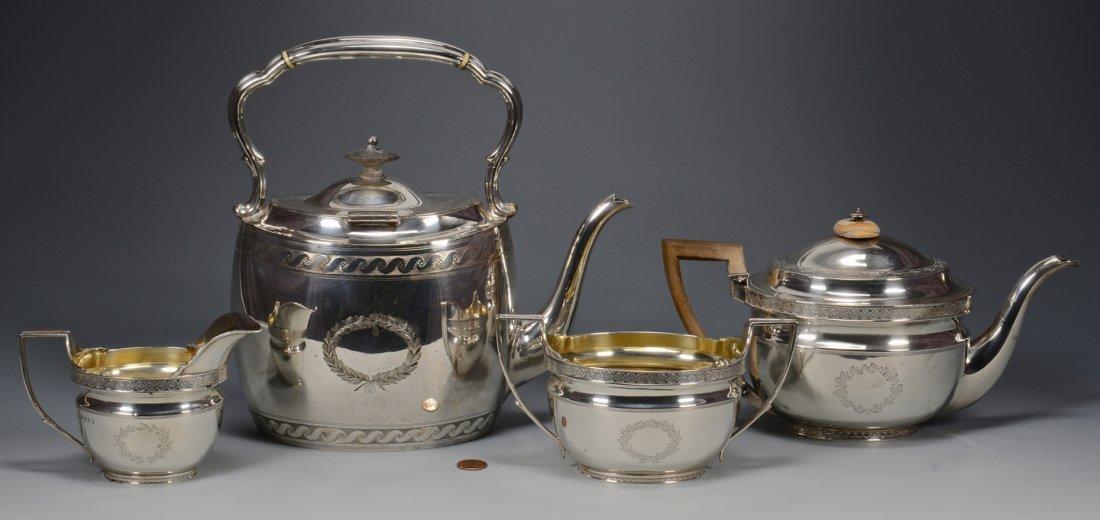 English Silver Tea Service, 4 pcs